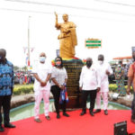 Akufo-Addo unveils statue of first MP for Ablekuma West constituency