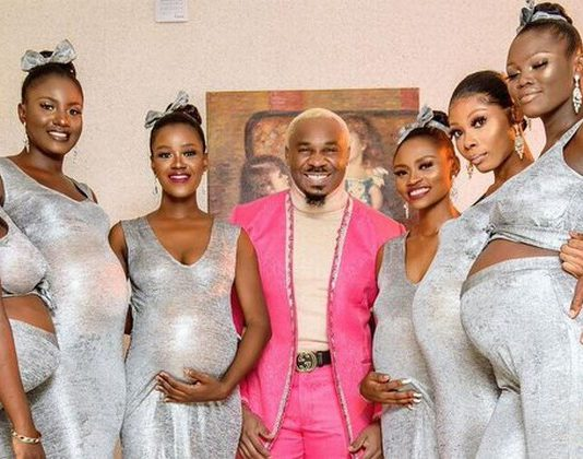 Man arrives at wedding with six pregnant women - and claims he's the dad of them all