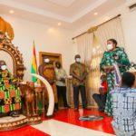 First Lady Rebecca Akufo-Addo at Manhyia palace