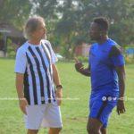 Asmaoah Gyan with Legon Cities coach