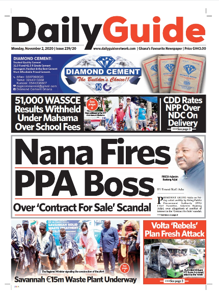 Newspaper headlines of Monday, November 2, 2020 30