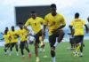 Black Stars players training