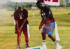 Davido and Stonebwoy play golf together in Ghana