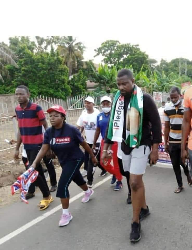 John Dumelo and Lydia Alhassan at peace walk