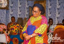 Lordina Mahama campaigns in Bono East Region