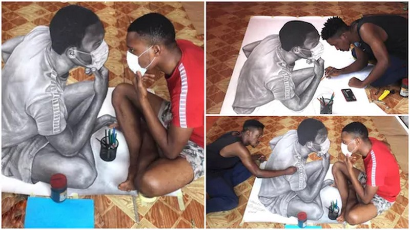 Young artist turns heads on social media with a picture which appears like  living human being