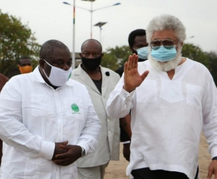 Koku Anyidoho and Rawlings