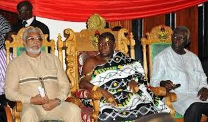 Otumfuo, Rawlings and Kufour