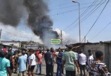 premix fuel outlet catches fire
