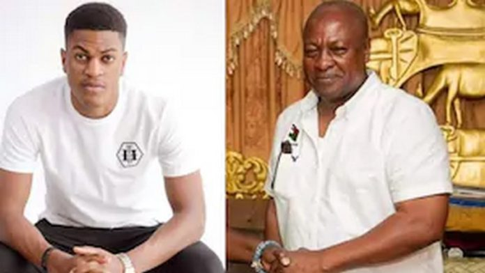 John Mahama and son Sharaf