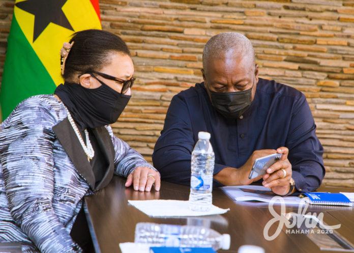 John Mahama meets the Secretary General of The Commonwealth, Rt Hon Patricia Scotland QC | Adomonline.com