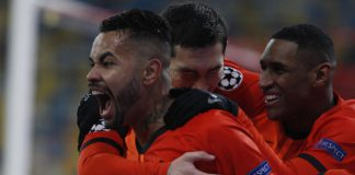Shakhtar Donetsk celebrate scoring against Real Madrid Image credit: Getty Images