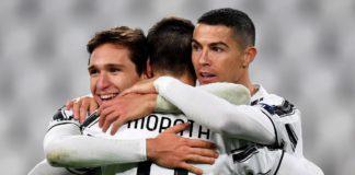 Juventus celebrate scoring against Dynamo Kiev Image credit: Getty Images