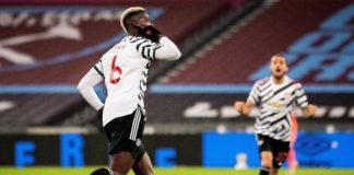 Paul Pogba celebrates v West Ham Image credit: Getty Images