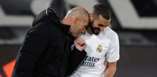 Karim Benzema (R) celebrates with Zinedine Zidane Image credit: Getty Images