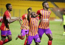 Hearts of Oak players celebrate