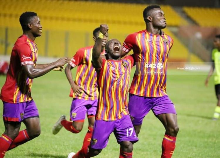Hearts of Oak players celebrate