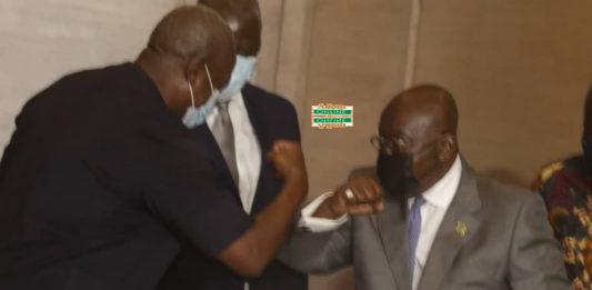 John Mahama and Akufo-Addo at Presidential Peace Pact 2020