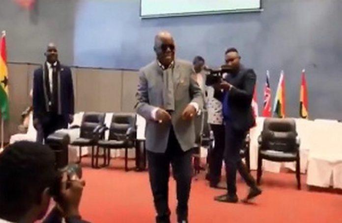 President Nana Addo Dankwa Akufo-Addo dancing at the event