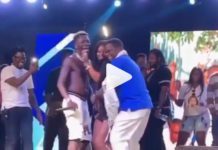 Energy Minister Peter Amewu spotted grinding Shatta Wale's girls at concert