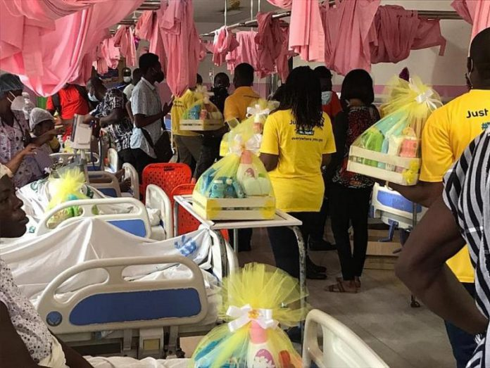 MTN Ghana distributes 250 hampers to Christmas born babies