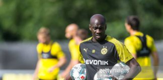Otto Addo at the training grounds of Dortmund