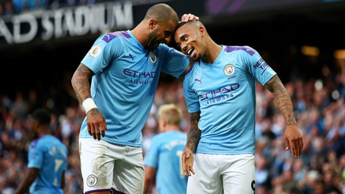 Kyle Walker and Gabriel Jesus