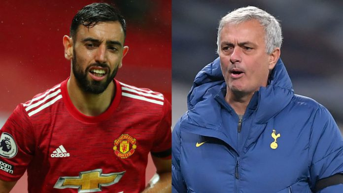Bruno Fernandes has won Premier League player of the month; Jose Mourinho has won the manager's award