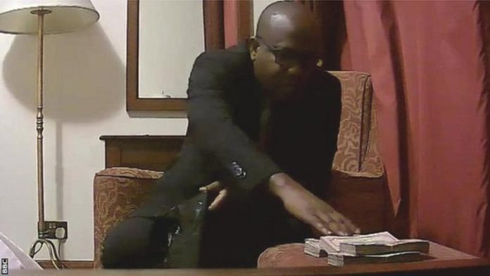 Kwesi Nyantakyi was filmed taking thousands of dollars of cash and putting them into a bag