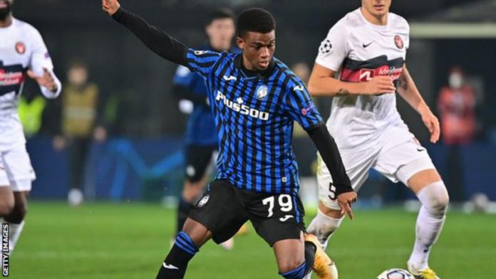 Amad Diallo has played for Atalanta in the Champions League this season