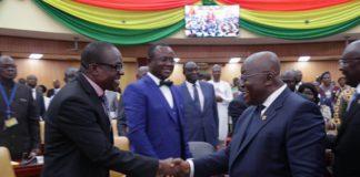 Akufo Addo and Alban Bagbin