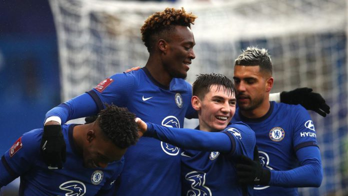Tammy Abraham celebrates with Chelsea teammates Image credit: Getty Images