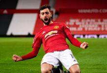 Bruno Fernandes celebrates   Manchester United v Liverpool Image credit: Getty Images