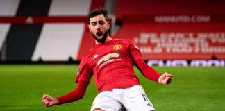 Bruno Fernandes celebrates | Manchester United v Liverpool Image credit: Getty Images