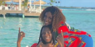Stonebwoy and his wife, Dr Mrs Louisa Satekla