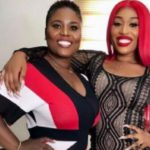 Ghanaian singer, Fantana with her mother Mrs. Dorcas Afo Toffey