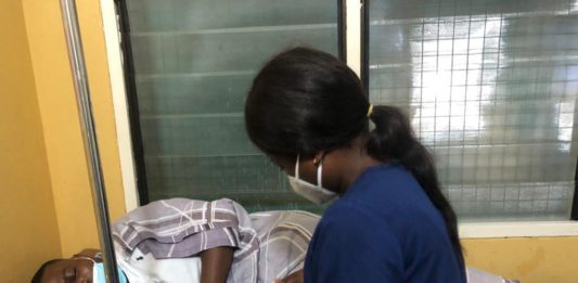 Asepa Executive Director Mensah Thompson receiving treatment at an undisclosed hospital