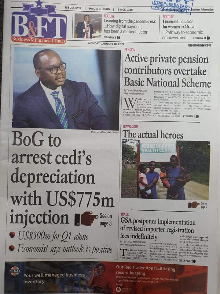 Newspaper headlines of Tuesday, January 19, 2021 65