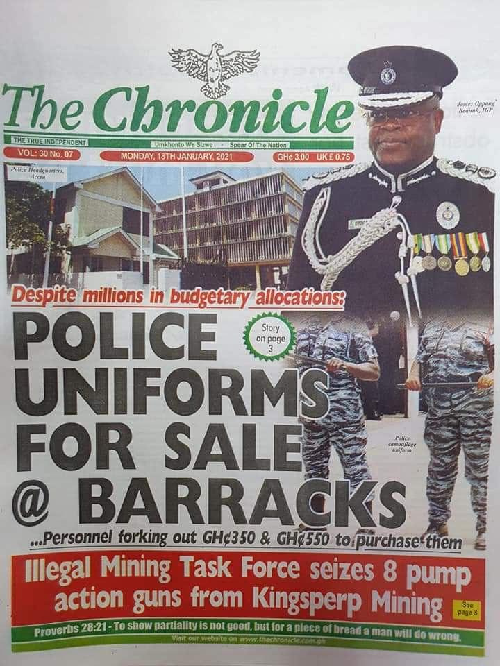 Newspaper headlines of Tuesday, January 19, 2021 61