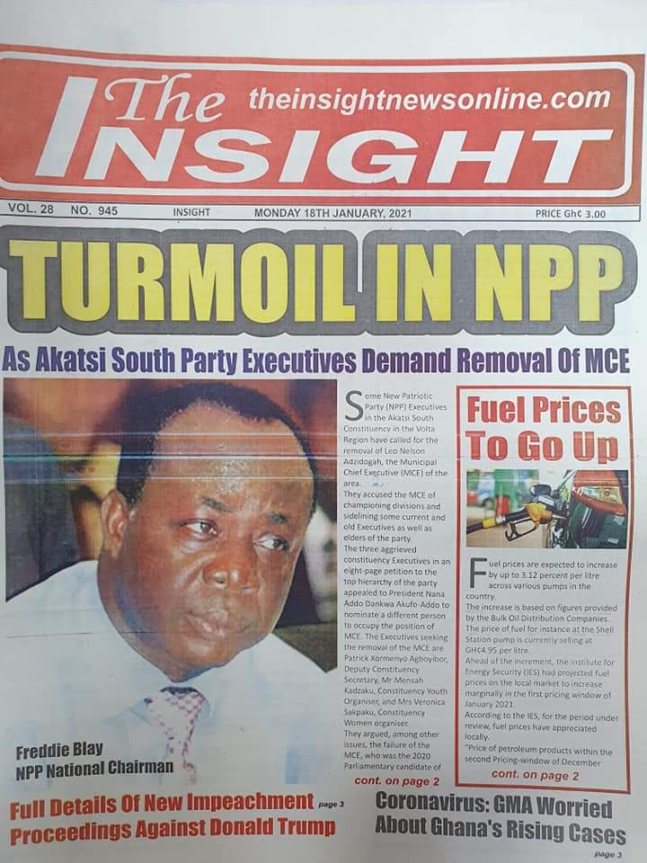 Newspaper headlines of Tuesday, January 19, 2021 60