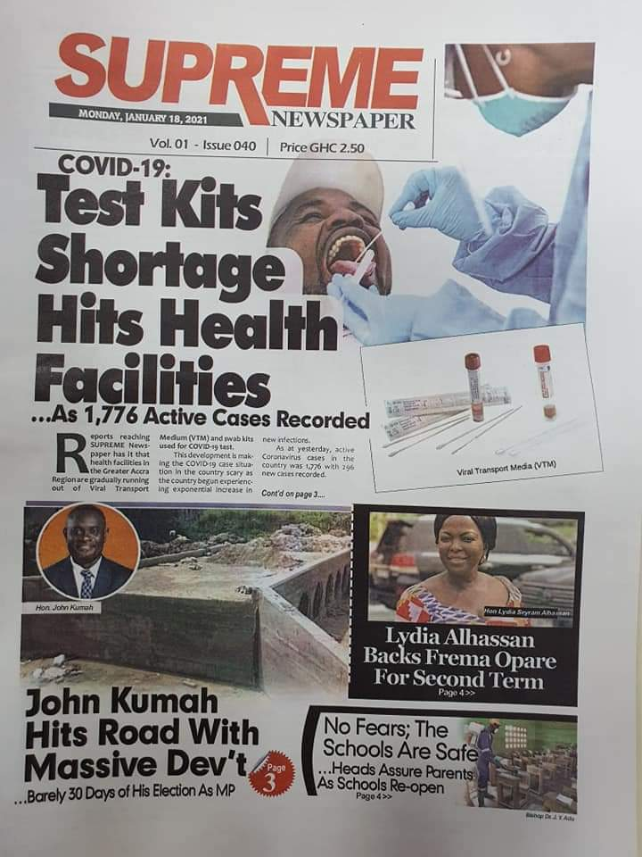 Newspaper headlines of Tuesday, January 19, 2021 59