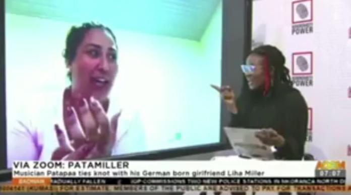 Sister Sandy speaks with Patapaa's wife, Liha Miller on Adom TV | Adomonline.com