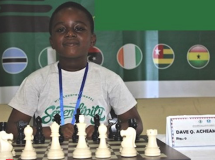 Eight-year-old Dave Chief Quansah Acheampong of the Jack and Jill School