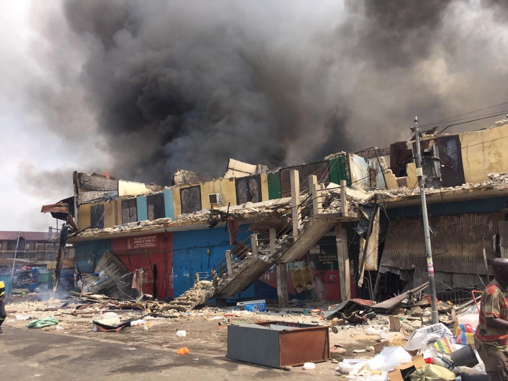 Kumasi Central market fire