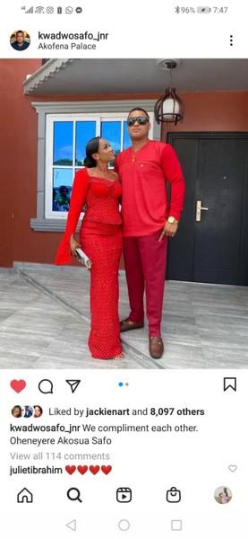 Kwadwo Safo jnr and wife