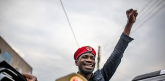 Robert Kyagulanyi Ssentamu, also known as Bobi Wine.