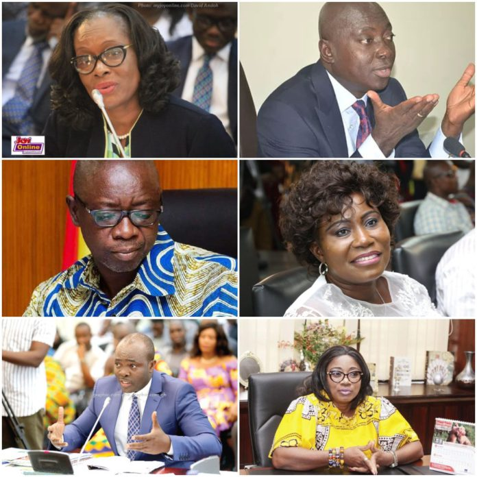 Eight powerful ministers who have lost their jobs in Akufo-Addo's 2nd govt