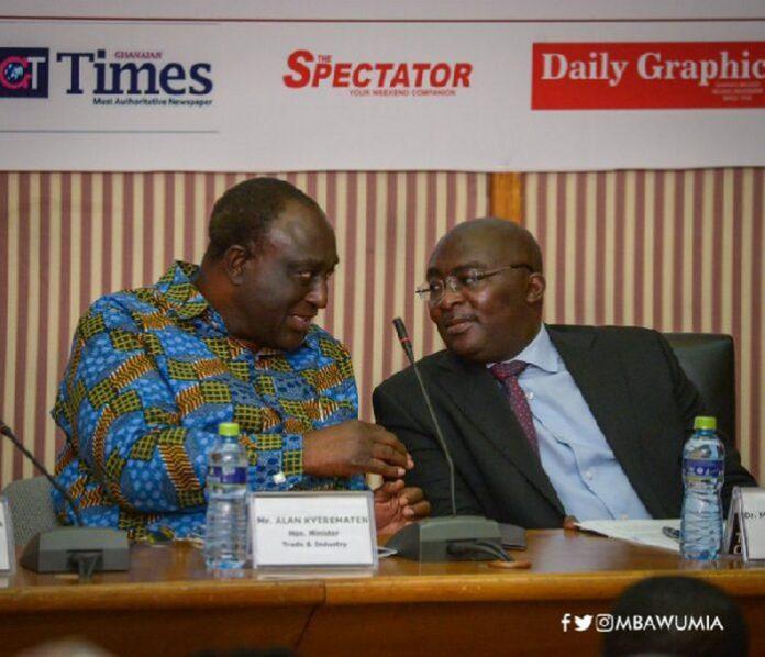 Dr. Mahamudu Bawumia with Alan John Kyerematen