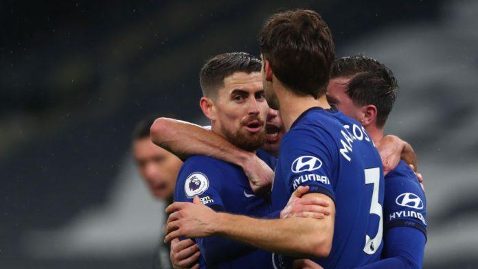Chelsea's Italian midfielder Jorginho (C) Image credit: Getty Images