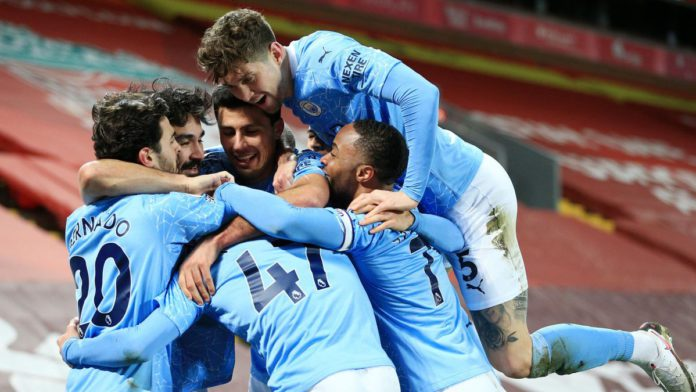 Manchester City celebrate Image credit: Getty Images